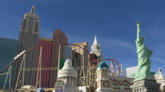 New York New York, Hotel & Casino - Las Vegas Nevada Stock Footage