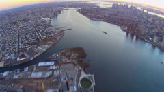New York City FE aerials Stock Footage