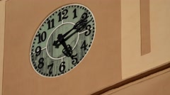 ULTRA HD 4K Timelapse public clock time pass hour number sunny day hand motion  Stock Footage