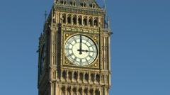 The Elizabeth Tower, popularly called Big Ben, London. - stock footage
