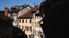 European alleyway Stock Footage