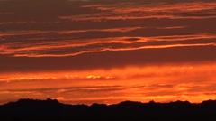 Badlands Badlands National Park Fall Sunrise Orange Sky Clouds Stock Footage