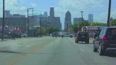 Dallas Tx.[Dash cam] Ross St. & Elm St. Stock Footage