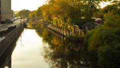 Evening Overlooking Boardman River Stock Footage