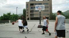 WS TU Men playing basketball / Salt Lake City, Utah, USA. Stock Footage