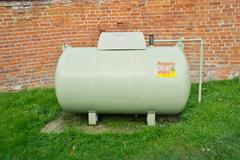 propane tank - stock photo