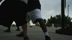 WS TU Man playing basketball / Salt Lake City, Utah, USA. Stock Footage
