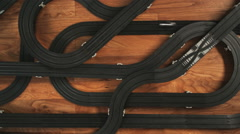 CU, PAN, View of electric slot cars. / Orem, Utah, USA. - stock footage