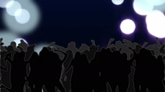 Nightclub with glowing circles of light moving in purple hues - stock footage