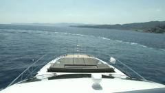 On board view of boat navigating  - stock footage