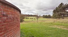 windy landscape - stock photo