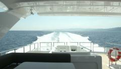Upper deck on luxury yacht  - stock footage