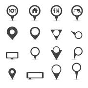 Vector.map markers Stock Illustration