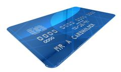 generic credit card - stock illustration