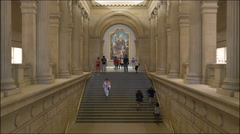 0518 Many visitors are spending there time in MET. All year long. Stock Footage