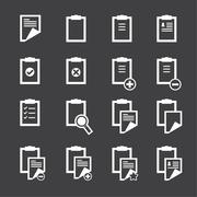 clipboard icons - stock illustration
