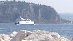 Ferry navigating in Sardegna, Italy  Stock Footage