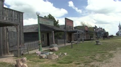 History Western Region Spring Old West Town Main Street - stock footage