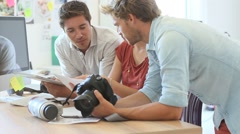 Creative team working in office Stock Footage