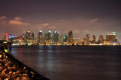 View from Harbor Island - stock photo