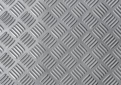 Aluminium dark list with rhombus shapes Stock Photos