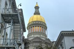 new jersey state house, trenton - stock photo