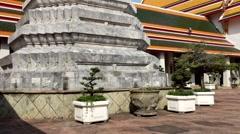 Wat Pho in bangkok thailand Stock Footage