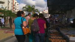 Estepona Wednesday street market Stock Footage