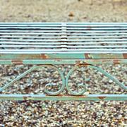 garden bench - stock photo