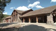 Recreation Yellowstone National Park Summer Old Faithful Lodge - stock footage