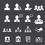 business persons and users icon - stock illustration