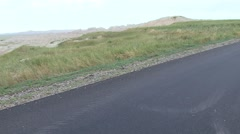 Nighthawk Lone Resting Summer Road Gravel Zoom In Stock Footage