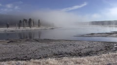 River & Stream Yellowstone National Park Fall Fog Yellowstone River - stock footage