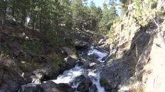 River & Stream Black Hills Fall Rapids Pan Stock Footage