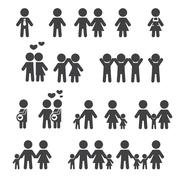 People and family icon Stock Illustration