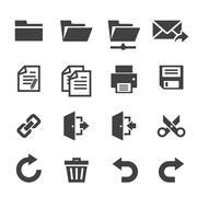 Application toolbar icons Stock Illustration