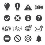 Notification icons Stock Illustration
