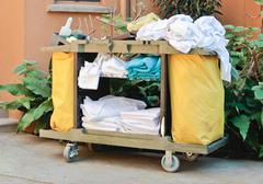 Housekeeping trolley Stock Photos