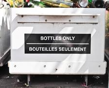 Stock Photo of bottle recycling