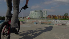 Steadicam Extreme Sport - BMX tail whip Stock Footage