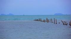 Koh Samui. Thailand. 18 jule 2014. Boat on the sea  HD. 1920x1080 Stock Footage