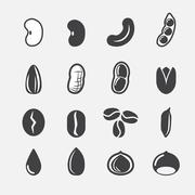 Nut and seed icon Stock Illustration