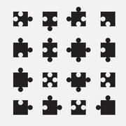 puzzle set - stock illustration