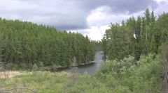 Northwoods Fishing Bay Stock Footage