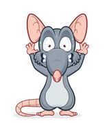 Scared rat Piirros