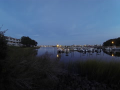 Time Lapse of Harbor near Carolina Beach North Carolina Stock Footage