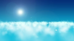 Flight over clouds with the morning sun Stock Footage