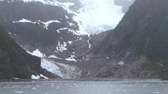 Mountain Kenai Fjords National Park Summer Glacier Handheld - stock footage