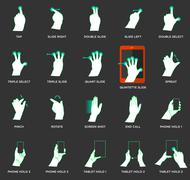 Gesture icons for touch devices Stock Illustration