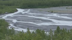 River & Stream Kenai Fjords National Park Summer Glacier Glacial Delta Outwash Stock Footage